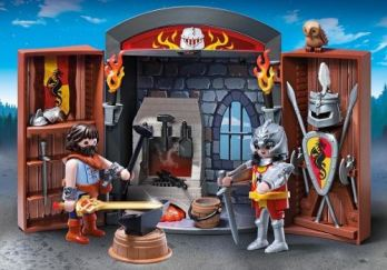 playmobil-knights-5637-coffre-chevalier-et-forgeron
